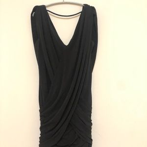 Black crisscross sexy mini dress Bcbg Maxazria